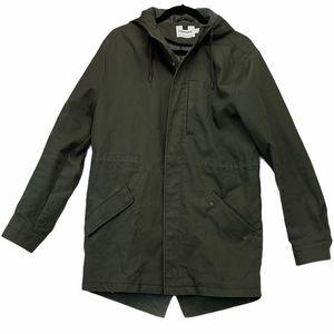 TopMan Army Green Cotton Anorak Jacket